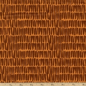 Jungle Jive Bamboo Cotton Fabric - Orange 05847-37