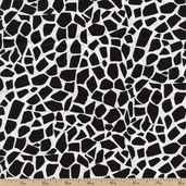 Jungle Jive Giraffe Cotton Fabric - Black 05846-12