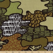 Jungle Jive Jungle Camo Cotton Fabric - Olive 05844-49