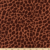 Jungle Jive Spots Cotton Fabric - Brown 05846-77