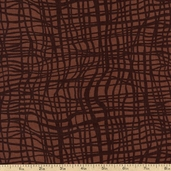 Jungle Jive Vine Cotton Fabric - Brown 05848-77
