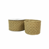Jute Ribbon Woven Texture � 2.5in.x24ft. - Natural
