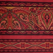 Kashmir Cotton Fabric - Maroon