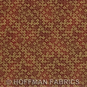Kashmir Fabric - Scarlet Gold