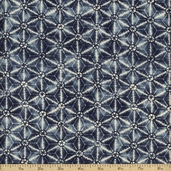 Kasuri Cotton Fabric - Dusty Blue 32683-13