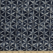 Kasuri Cotton Fabric - Indigo 32683-14