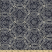 Kasuri Cotton Fabric - Slate 32682-14