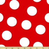 Kaufman Fabrics - Pimatex Basics Cotton Fabric - Red BKT-9601-3