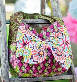 Kaufman Free Sewing Pattern - Luscious Bow Tote