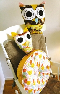 Kaufman Free Sewing Pattern - Owl Pillows