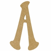 Kelly Fiberboard Wood Letter 6in. - A