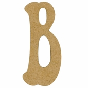 Kelly Fiberboard Wood Letter 6in. - B