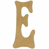 Kelly Fiberboard Wood Letter 6in. - E