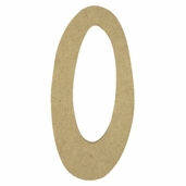 Kelly Fiberboard Wood Number 6in. - 0
