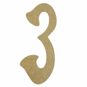 Kelly Fiberboard Wood Number 6in. - 3