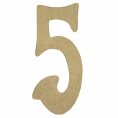 Kelly Fiberboard Wood Number 6in. - 5