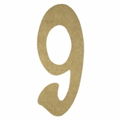 Kelly Fiberboard Wood Number 6in. - 9