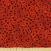 Kimono Cotton Fabric - Small Floral - Red