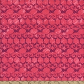 Kingston Scroll Stripe Cotton Fabric - Pink - CLEARANCE