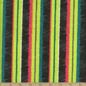 Kingston Stripe Cotton Fabric - Grey - CLEARANCE