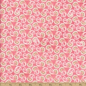 Kissing Booth Cotton Fabric - Candy Pink 30313-14