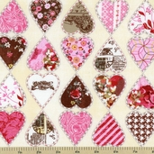 Kissing Booth Heartbreaker Cotton Fabric - Natural 30312-11
