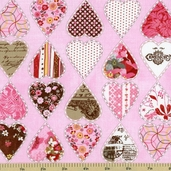 Kissing Booth Heartbreaker Cotton Fabric - Pink 30312-13