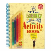 Klutz Activity Book Coloring, Puzzles, Games, Dot-To-Dot (with pencils)