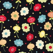 Knock Knock Cotton Fabrics - Black
