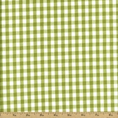 Kona Clothworks 2 Gingham Cotton Fabric - Green APL-11217-7
