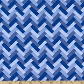 Kyani Bricks Cotton Fabric - STELLA-152-BLUE
