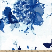 Kyani Floral Cotton Fabric - Blue STELLA-147-BLUE