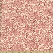 La Belle Fleur Cotton Fabric - Rose 13634-19