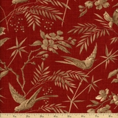 La Belle Fleur Cotton Fabric - Rouge 13630-12