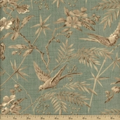 La Belle Fleur Cotton Fabric - Verde 13630-13