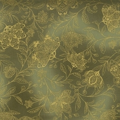 La Scala 3 Cotton Fabric - Moss