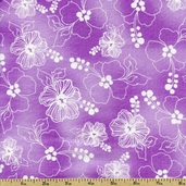 Lacey Hybiscus Cotton Fabric - Orchid 691-850-B