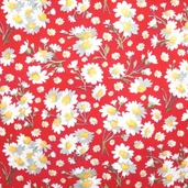 Lakehouse Fabric Teatime Marguerite - Red - CLEARANCE