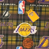 Lakers Fleece Fabric 82LAL