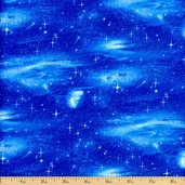 Landscape Medley Shooting Star Cotton Fabric - Blue