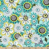 Lanoma Packed Floral Cotton Fabric - Multi