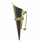 Lapel Pin Vase Pkg of 3 - Gold