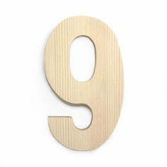 Large Block Wood Numbers