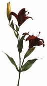 Large Lily Spray 33 in 12 pack - Burgundy