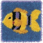 Latch Hook Kit: Gold Fish