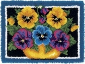 Latch Hook Kit: Pansies