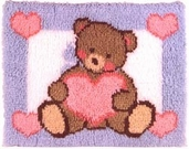 Latch Hook Kit: Teddy Bear