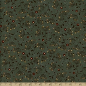 Late Bloomers Cotton Fabric - Green 17625-13