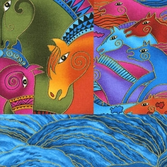 Laurel Burch Embracing Horses