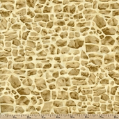 Lavender Bliss Packed Stones Cotton Fabric - Beige